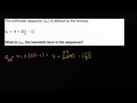 Using arithmetic sequences formulas Algebra (video) Khan Academy