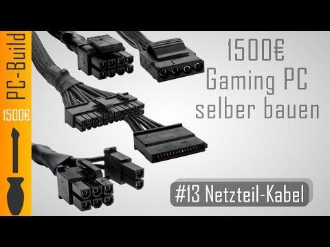 Gaming PC bauen #13 - Netzteil-Kabel verbinden [Gaming-PC Build] [German]