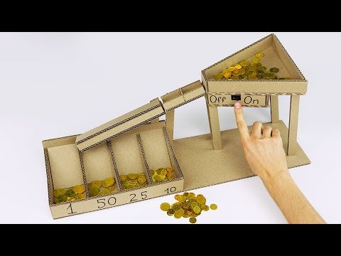 Search result youtube video diy coin sorter - Coin sorting piggy bank ...