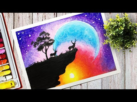scenery oil painting video tutorial by art klvdrawstudio