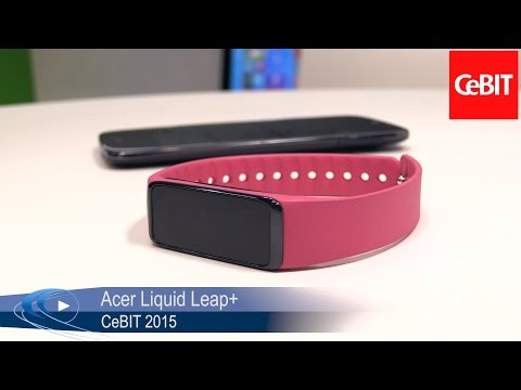 CeBIT 2015 Acer Liquid Leap+ Fitness Armband für iOS, Android & Windows Phone Allround PC com