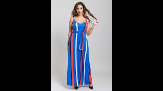 New Stylish Sling Streak Loose Stretch Dress(with Head Scarf )(new Added Color)  A28191B