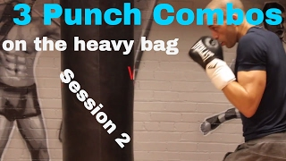 BEGINNER BOXING. HEAVY BAG COMBOS. Session 2 by NateBowerFitness