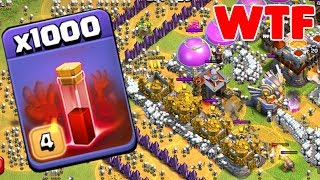 1000 Skeleton Spell Incredible Attack On Coc   Modded Apps Game Play