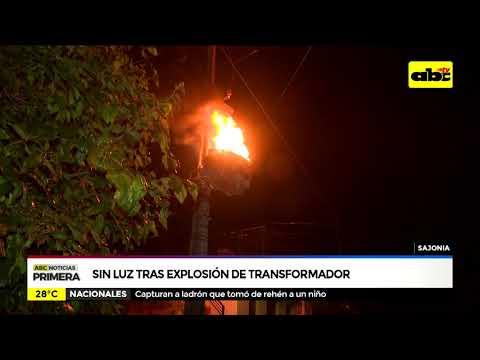 Sin luz tras explosión de transformador