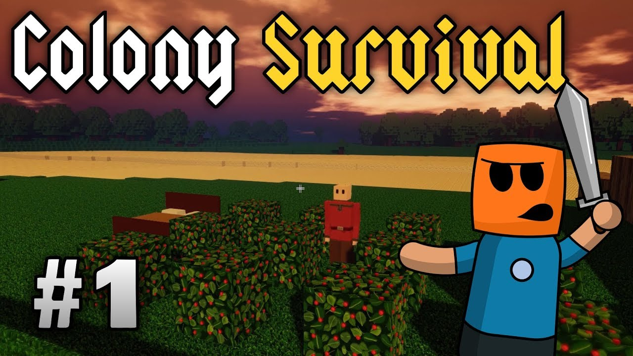Colony Survival ep1 | Surviving the first night