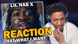 Lil Nas X - THATS WHAT I WANT (REACTION!!!)