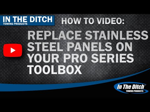 Tech Tip: Replace The Stainless Panel on your In The Ditch Pro Series Toolbox