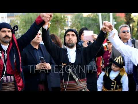 Με πυρρίχιο χορό υποδέχθηκαν την εικόνα του Αγίου Γεωργίου Περιστερεώτα στο Περιστέρι Αττικής