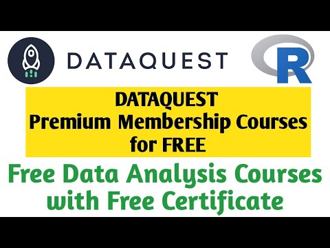 Dataquest free certificate courses | Data analysis free online courses ...