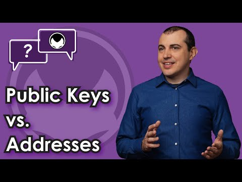 Bitcoin Q&A: Public keys vs. addresses