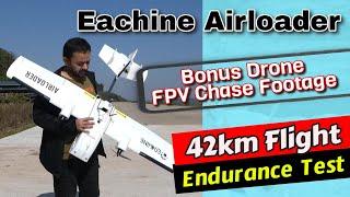 Eachine Airloader Long Range FPV Plane Li-Ion Battery flight endurance test