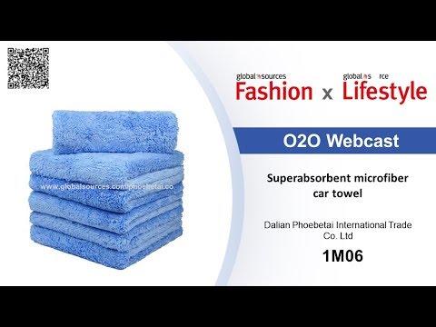 Superabsorbent microfiber car towel - Lifestyle show