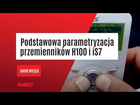 [Poradnik Napędowca] cz. 2 Podstawowa parametryzacja przemienników H100 i iS7. - zdjęcie