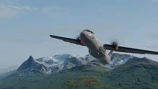 [P3Dv4.5] Carenado ATR72/500 'SAS' Narvik🛫 Kiruna🛬 (4K)