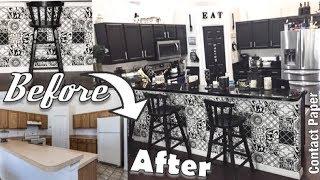 DIY Contact Paper Kitchen Makeover | Rental Friendly Makeover Hack
