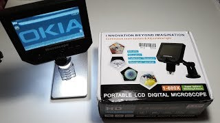 "Микроскоп для пайки с экраном. Digital Video Microscope 600X 4.3"" 3.6MP LED Magnifier"