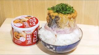 【ASMRめし動画】深夜に食べるサバ味噌煮缶オンザ白飯【飯テロ飯動画】咀嚼音