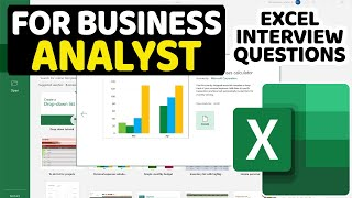 Excel Interview Questions and Answers For Business Analyst