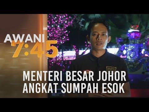Menteri Besar Johor angkat sumpah esok