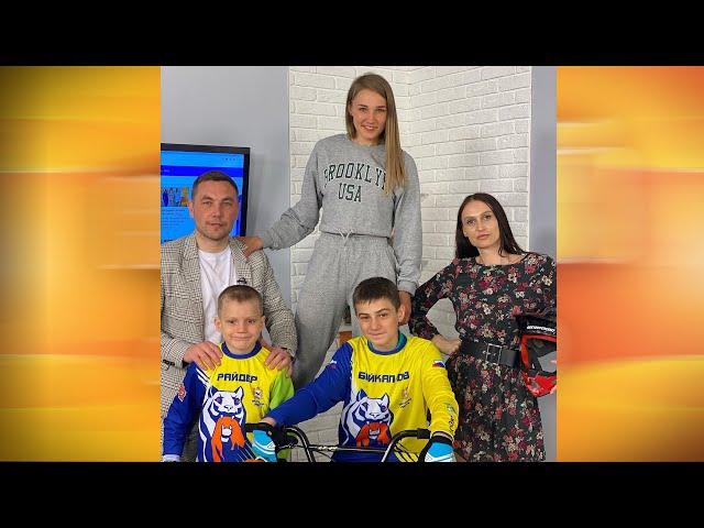 Гости программы «Новый день» Яна Егорова и Даниил и Никита Гулидовы