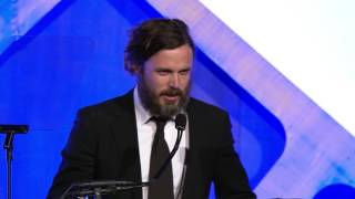 Casey Affleck Winning The 2016 IFP Gotham Award For Best Actor For MANCHESTER BY THE SEA