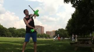 Wes Peden juggles flathead clubs in Nashville