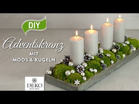 diy l nglicher adventskranz mit moos kugeln how to deko kitchen. Black Bedroom Furniture Sets. Home Design Ideas