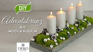 adventsgesteck selber machen dekorieren f r weihnachten. Black Bedroom Furniture Sets. Home Design Ideas