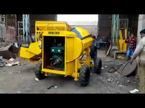 Three Bin Diesel Hydraulic Hopper Mixer