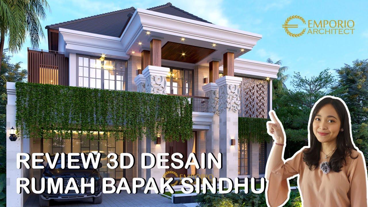 Video 3D Desain Rumah Villa Bali 2 Lantai Bapak Sindhu di Surabaya, Jawa Timur