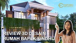 Video Desain Rumah Villa Bali 2 Lantai Bapak Sindhu di  Surabaya, Jawa Timur