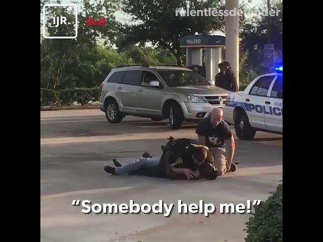 People filming would not help this cop who was asking for help. Would you help?