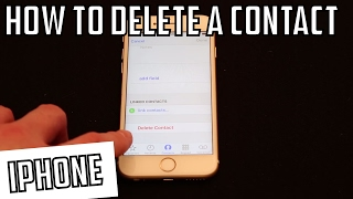 How to Delete a Contact iPhone 6s
