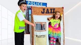 Max go to Toy Jail Playhouse as a Katy pretend cop