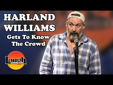Harland Williams does a little crowd work and then gets right into his act