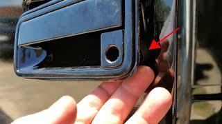Trick for installing 88-98  Chevy/GMC C1500  door handles. (easy way).