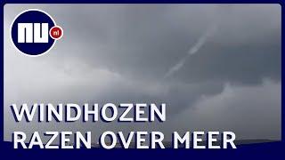 Drie waterhozen razen over meer bij Enkhuizen | NU.nl