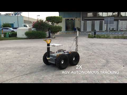 Experimental Testing of Tracking Controller based on Pipe Locator for AGV