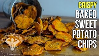 How to Make Crispy Baked Sweet Potato Chips / Como Hacer Chips de Batata