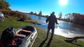 В поисках осенней щуки на реке Псел - на моторе до ГЭС