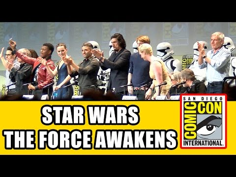 Star Wars The Force Awakens Comic Con Panel - Carrie Fisher, Harrison Ford, Mark Hamill | MTW