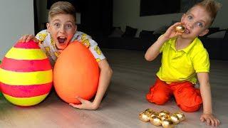 Тиша  ПОВТОРЮХА... ЗОЛОТЫЕ яйца. Соревнуемся...