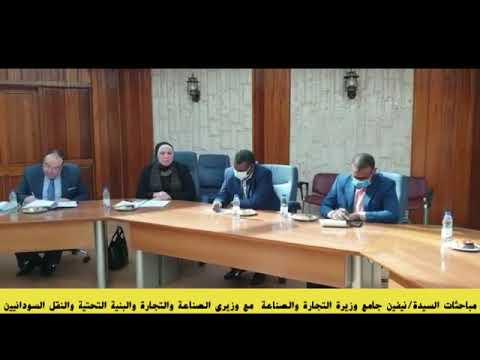 مباحثات وزيرة التجارة والصناعة مع وزيرى الصناعة والتجارة والبنية التحتية والنقل السودانيين