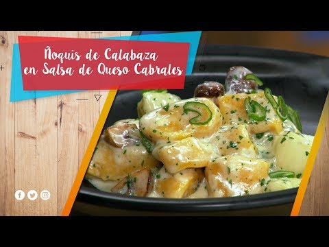 Ñoquis de Calabaza en Salsa de Queso Cabrales / La Pera Limonera