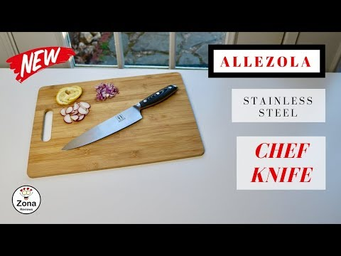😍  ALLEZOLA   ❤️   Professional German High Carbon  Chef Knife - Review    ✅