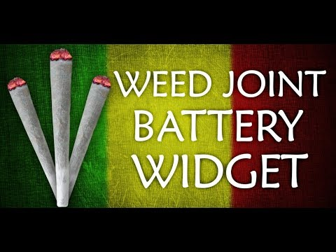 Video of Weed Joint HD Battery Widget