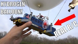REAL Flying Fortnite RC Battlebus!!!