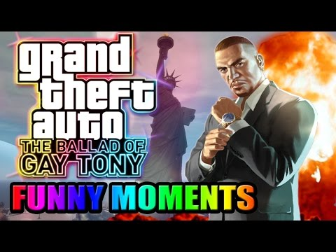 GTA 4 Online: The Ballad Of Gay Tony (FUNNY MOMENTS) - Secret Locations, Tugboat, Fist Fights