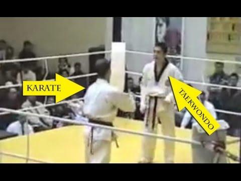 Taekwondo VS Karate - Knockout 2014